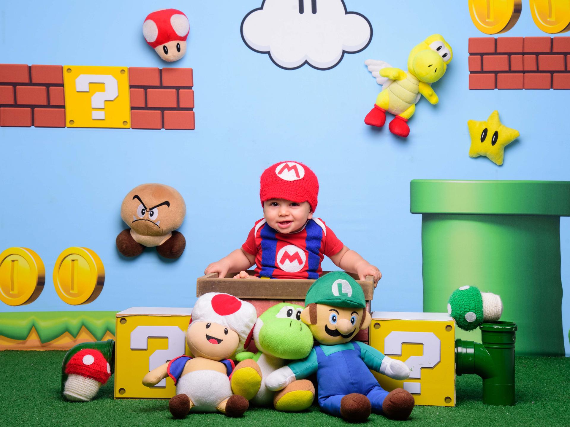 inspiração ensaio bebês, bebês fofos, Super Mario, Princesa Peach, Luigi, Bowser, Yoshi, Toad, sessão de fotos temática, fotos mario bros, jogo super mario, bebê fantasiado, fantasia super mario, sessão super mario
