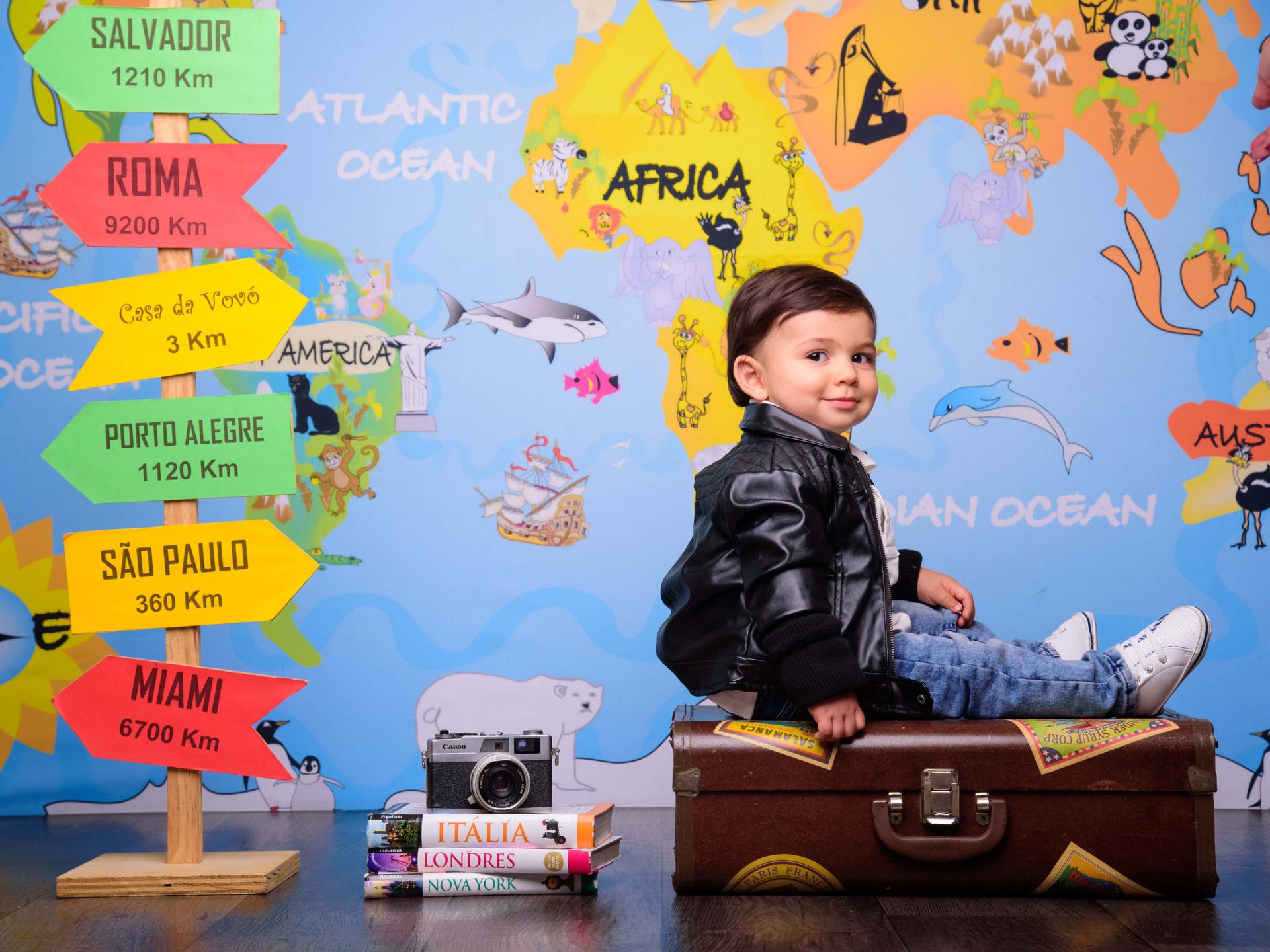 viagem, volta ao mundo, mala, destinos, look de viagem bebê, sessão fotografica temática, sessão fotografica viagem, bebê viajante, bebê estiloso, fotos de viagem,