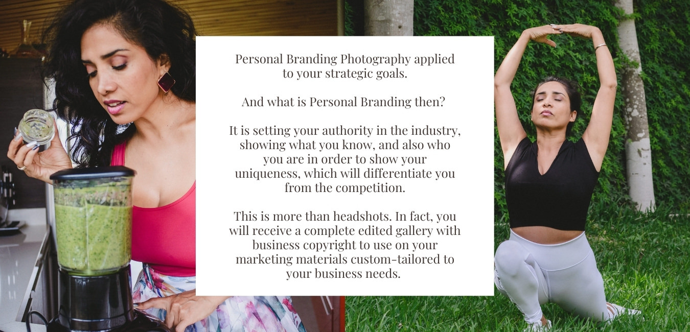 We will be focusing on your goals as a business owner.  Strategic Personal Brandingis everything, but doing only headshots and choose your top 3 to edit.   You will receive a complete edited gallery with business copyright to use on your marketing materialscustom-tailored to your businessneeds.