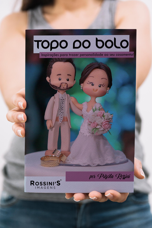 Capa do e-book sobre inspirações de topo de bolo de casamento!