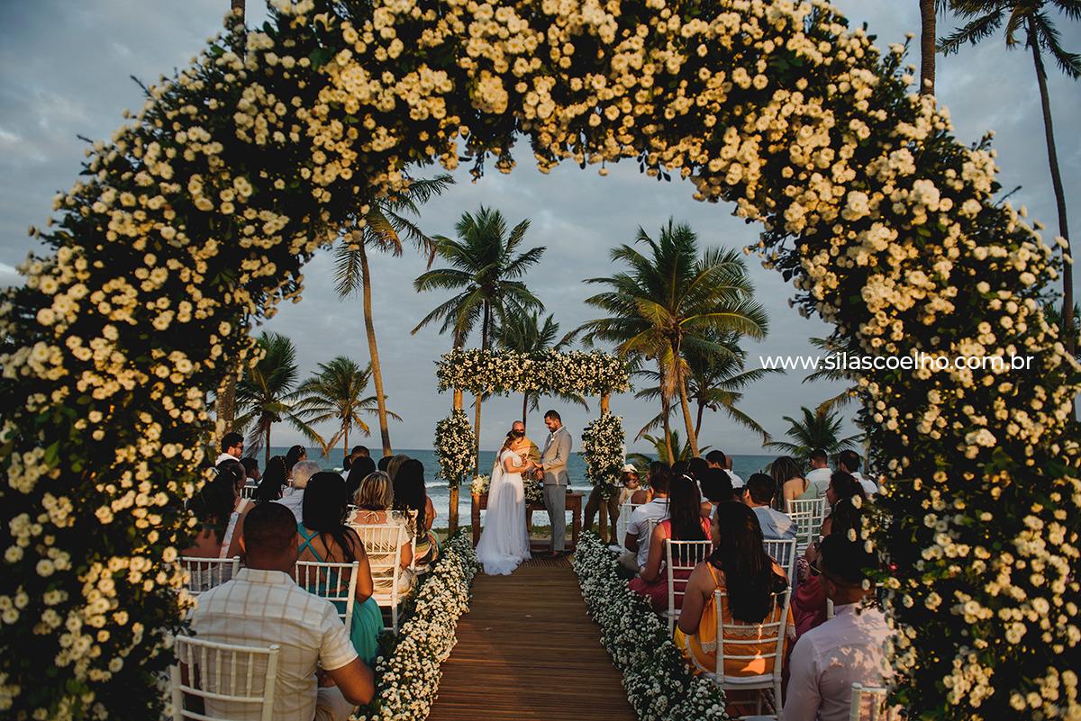 casar na Bahia, casamento na Bahia na praia no pôr do sol
