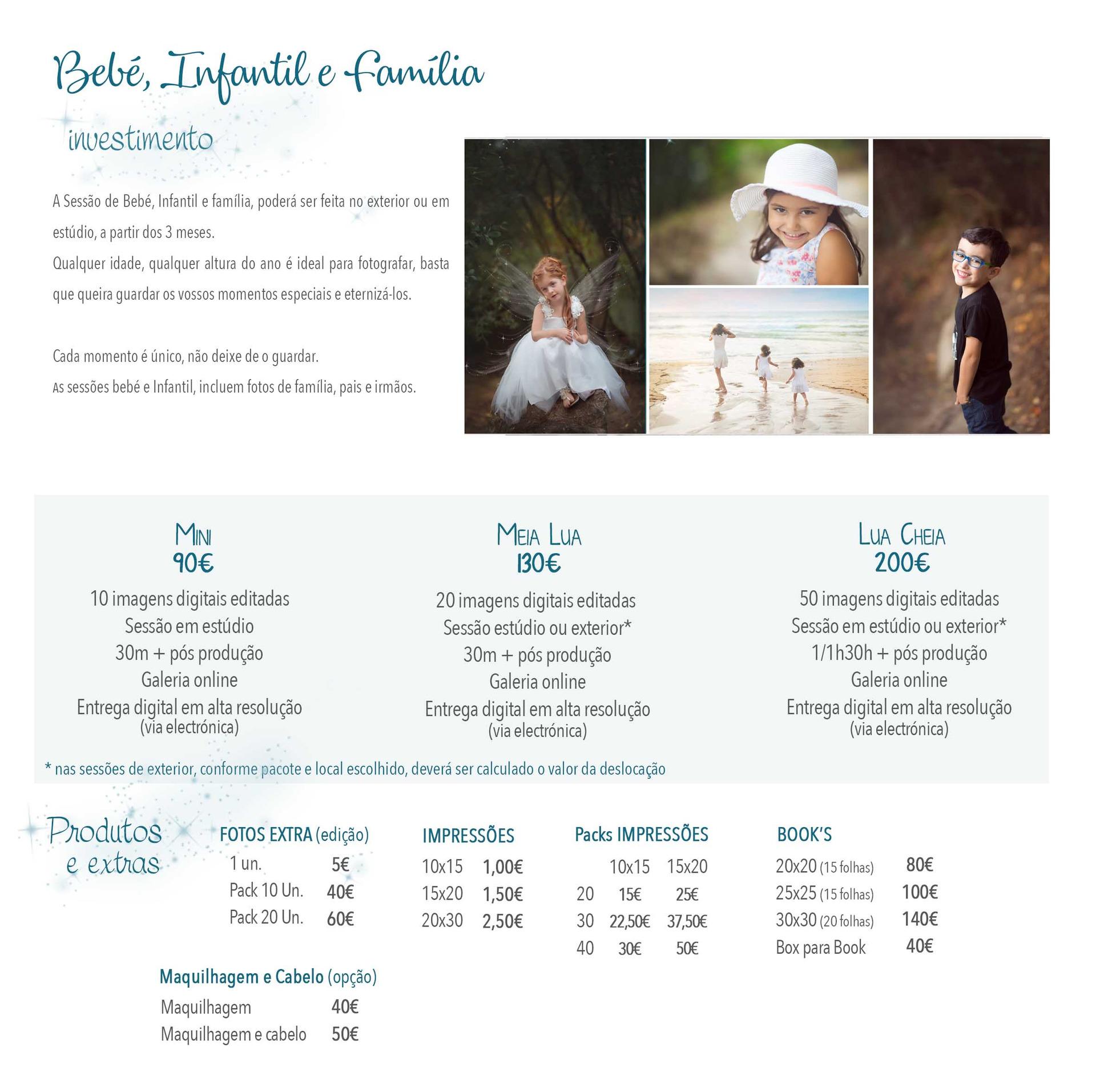 Fotografia Bebé, Infantil e família preços