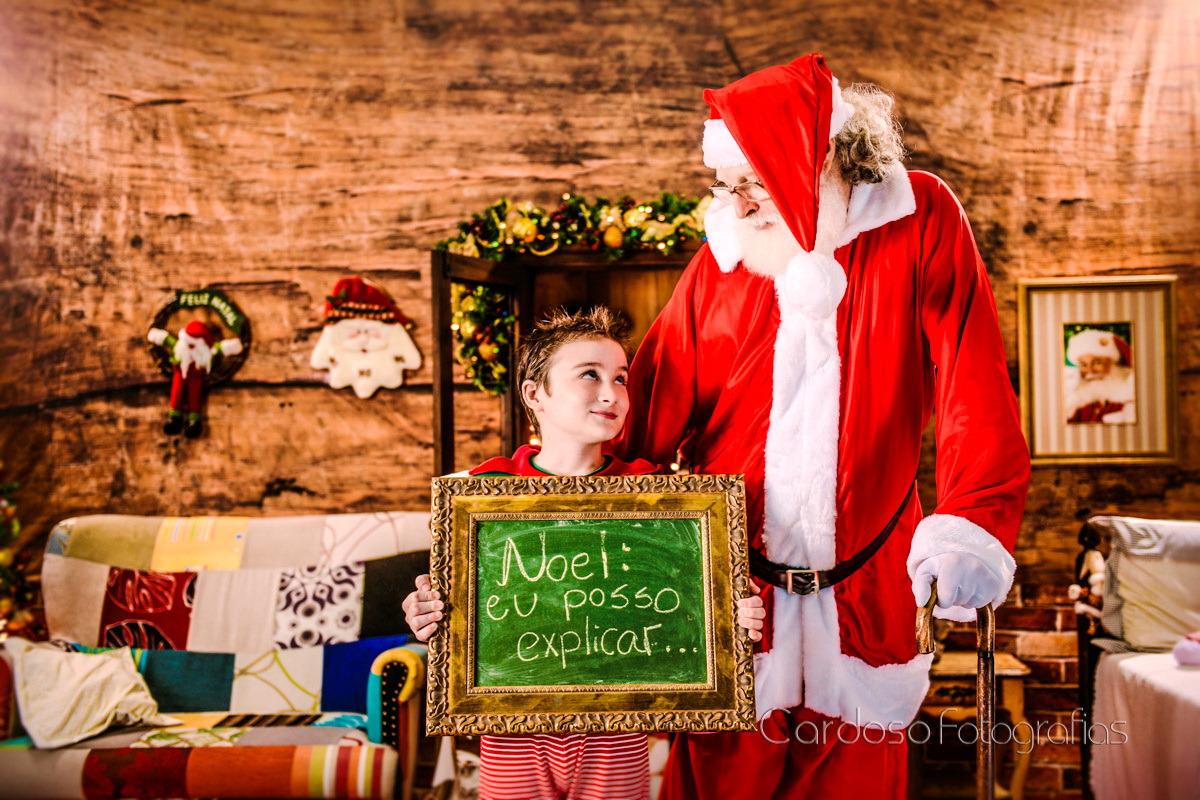 Ensaio em estudio fotografico com o Papai Noel em Indaial Blumenau Timbó Pomerode