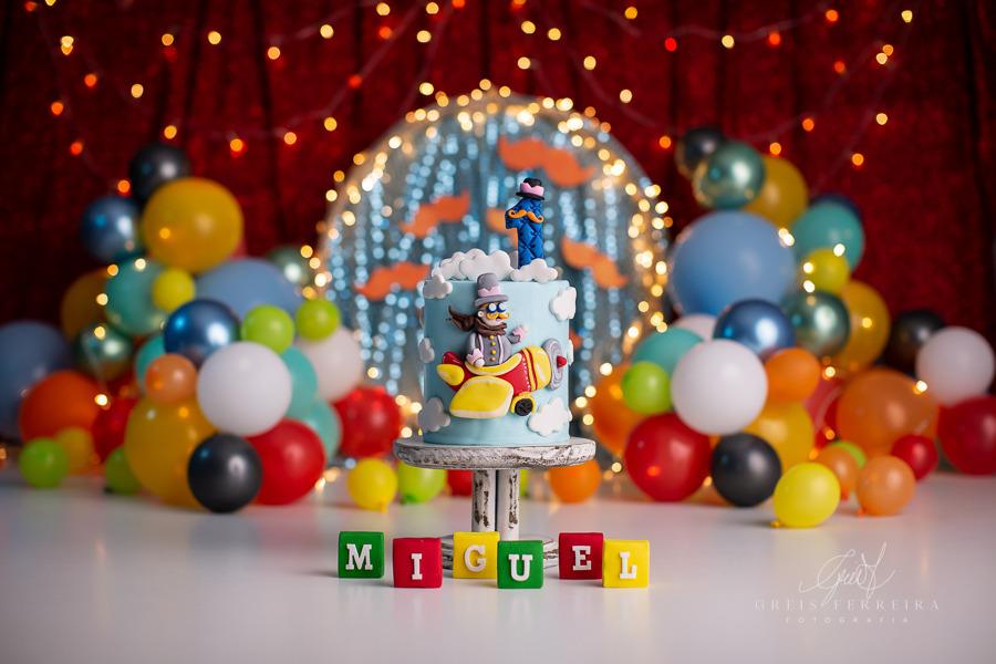 ensaio de bebê bolo smash the cake do circo do mundo bita