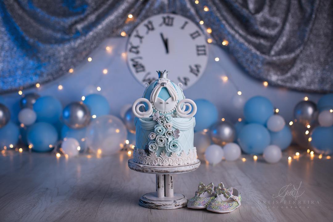 ensaio de bebê bolo smash the cake cinderela