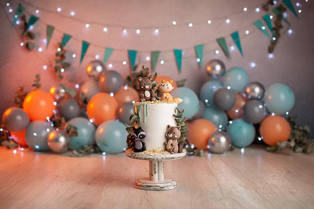 ensaio de bebê bolo smash the cake floresta tribal