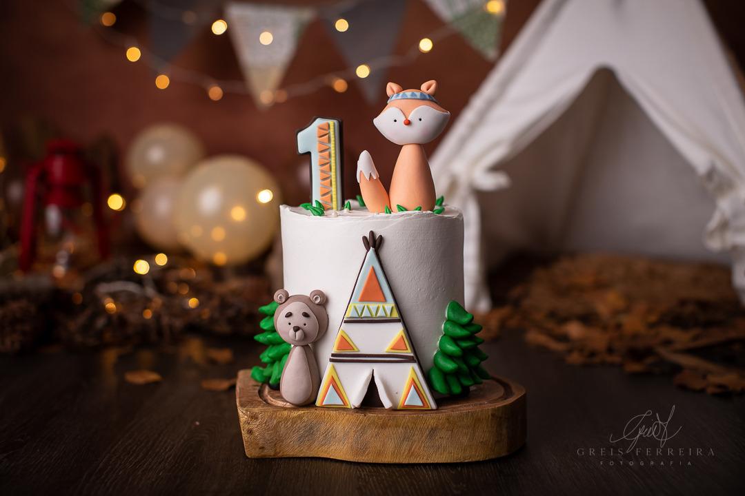 ensaio de bebê bolo smash the cake bosque tribal
