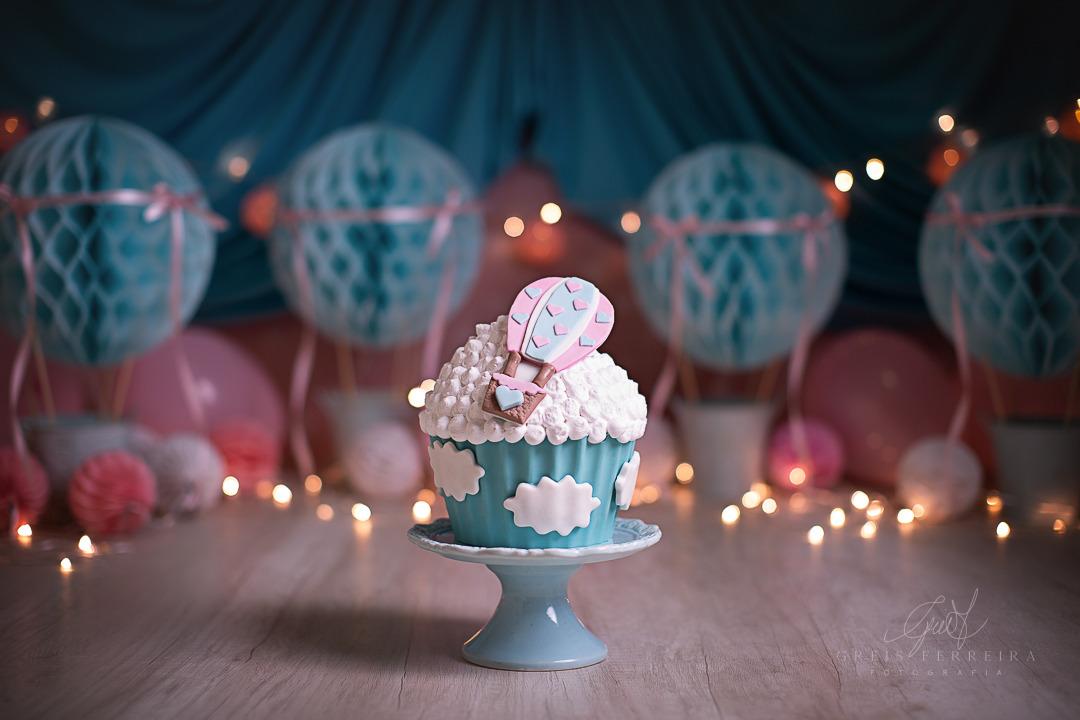 ensaio de bebê bolo smash the cake baloes