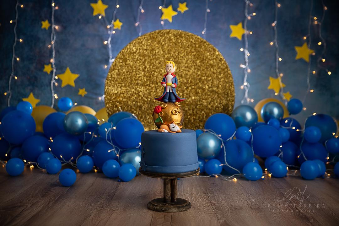 ensaio de bebê bolo smash the cake pequeno principe