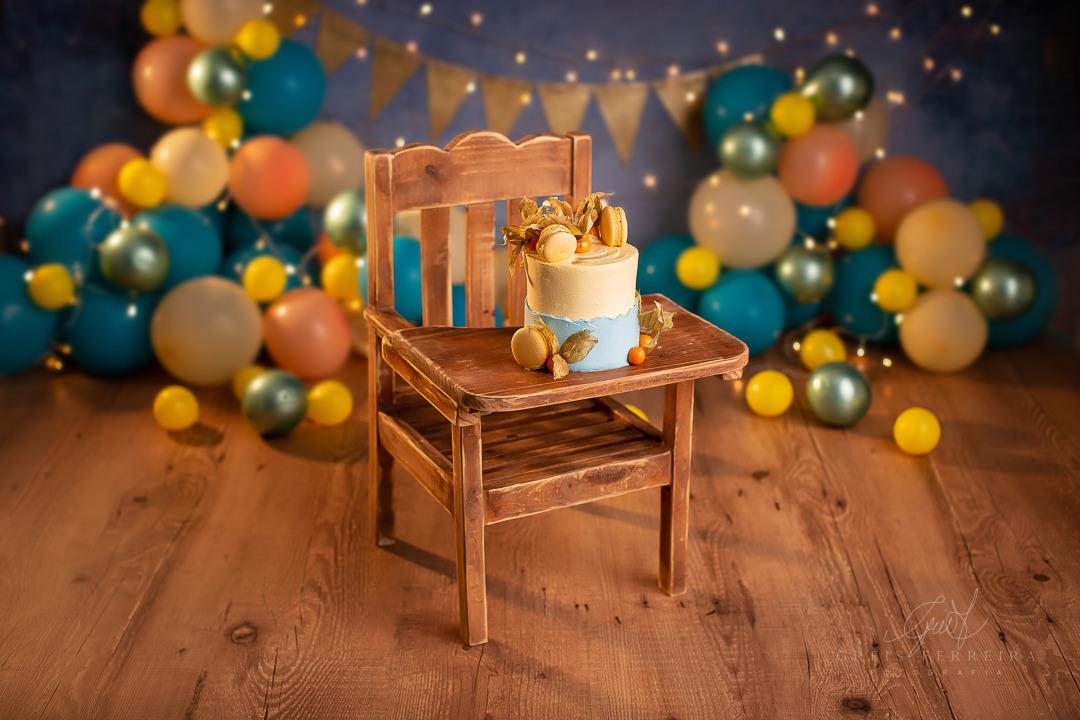 ensaio de bebê bolo smash the cake cadeirao
