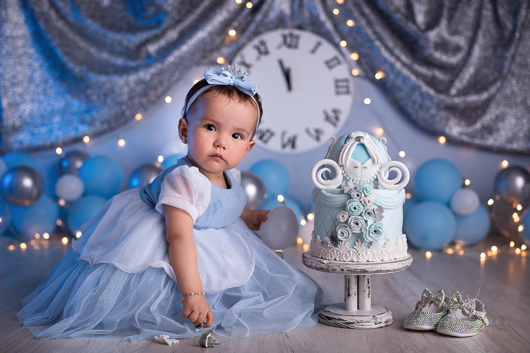 smash the cake princesa cinderela ensaio de menina