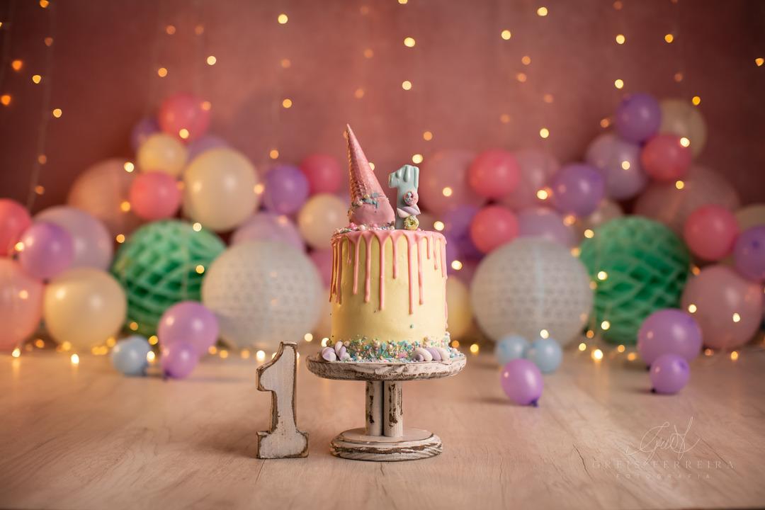 ensaio de bebê bolo smash the cake confeiteira