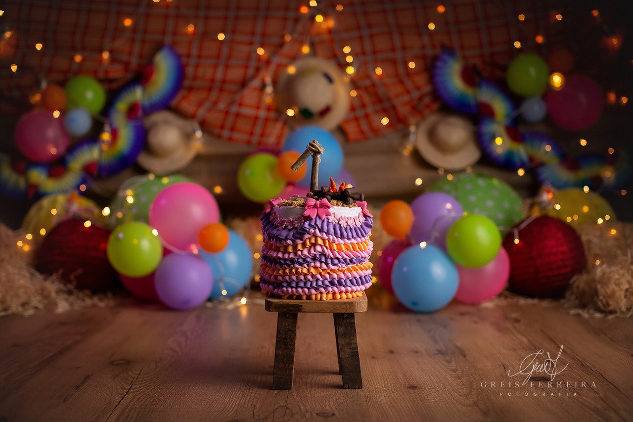 ensaio de bebê bolo smash the cake festa junina