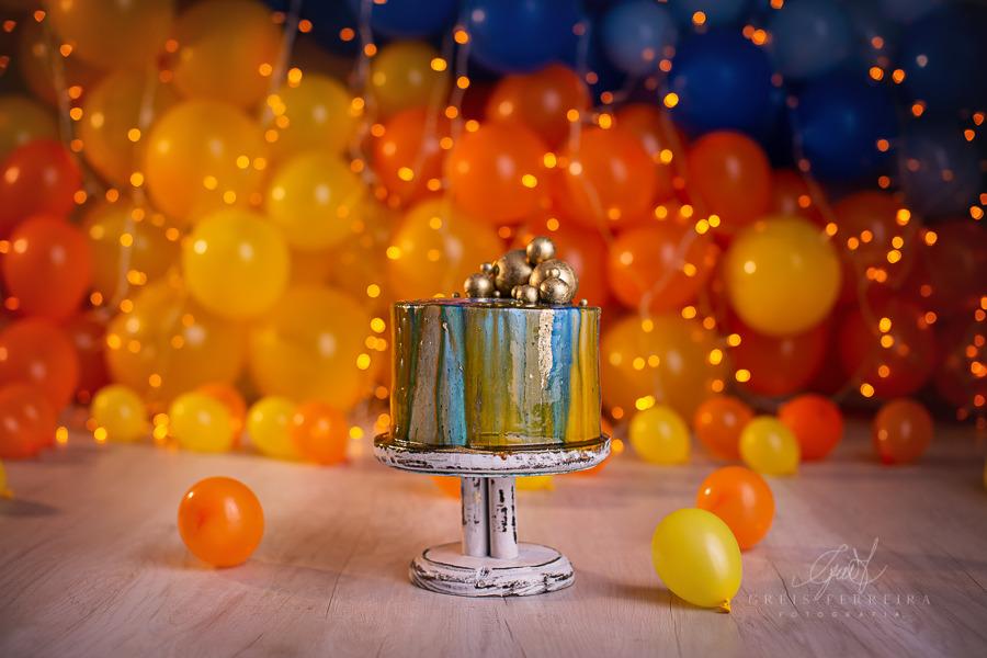 ensaio de bebê bolo smash the cake aurora