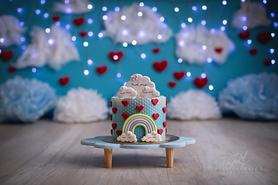 ensaio de bebê bolo smash the cake chuva de amor