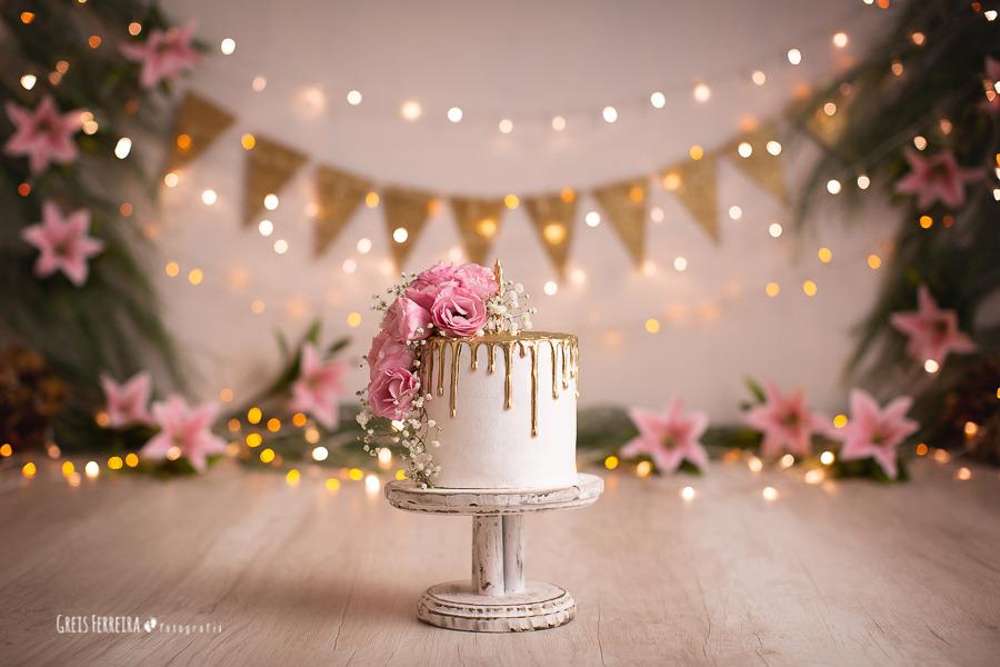 ensaio de bebê bolo smash the cake floresta encantada