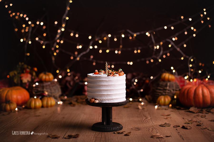ensaio de bebê bolo smash the cake halloween