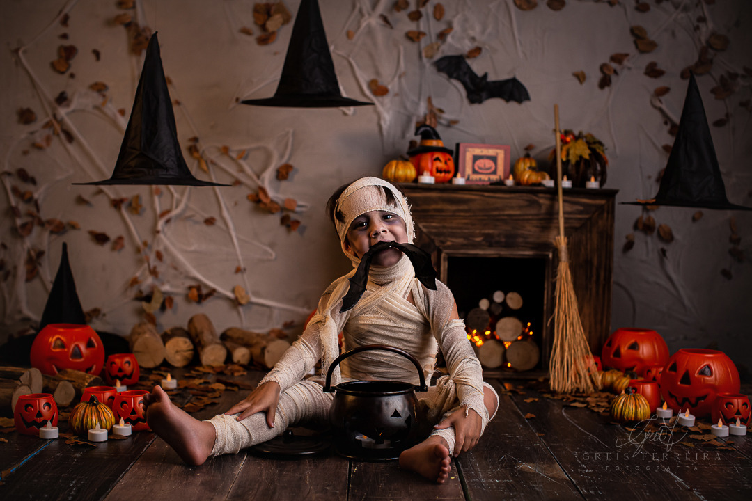 ensaio infantil halloween em bh