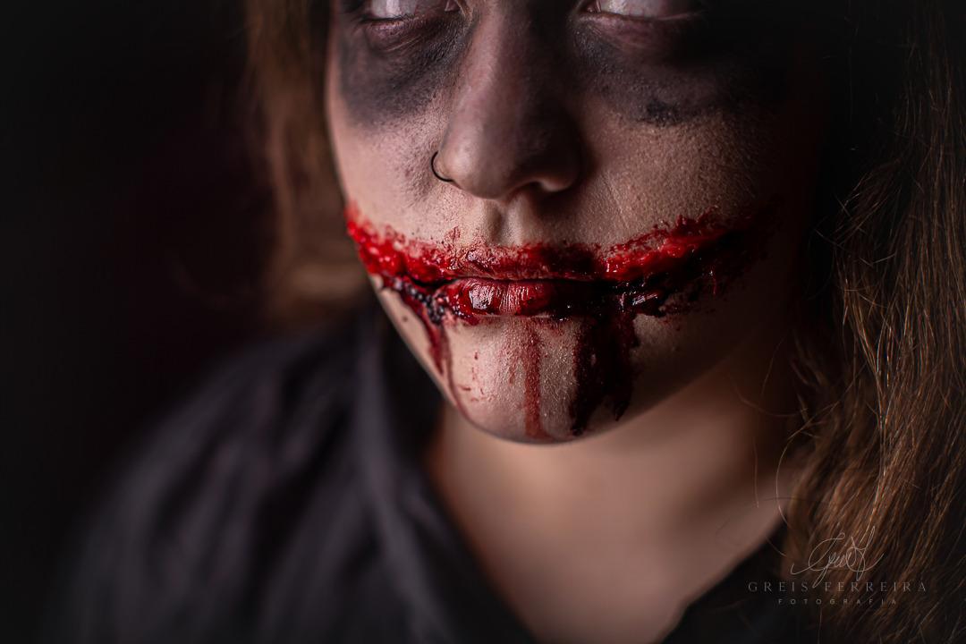 ensaio infantil de halloween morto vivo