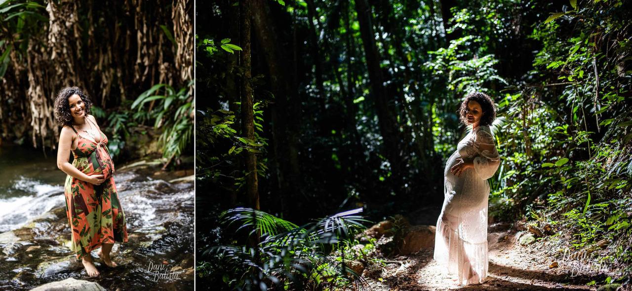 vestido soltinho estampado para ensaio fotografico de gestante